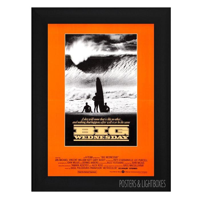 Big Wednesday BIG WEDNESDAY Framed Surf Film Movie Poster A4 Black Frame Jan