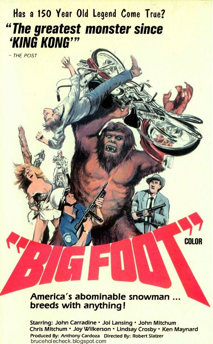 Bigfoot (1970 film) Cinema Arcana The VHS Archives Robert Slatzers BIGFOOT 1970