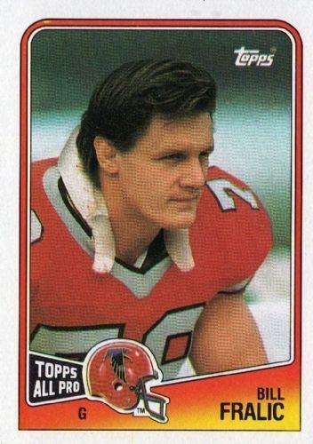 Bill Fralic ATLANTA FALCONS Bill Fralic 388 TOPPS NFL 1988 American