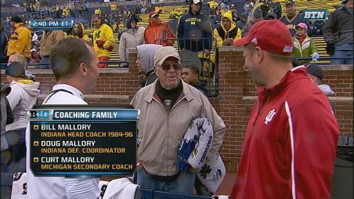 Bill Mallory Photo Longtime IU coach amp his Michigan blanket Big Ten