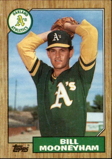 Bill Mooneyham 1987 Topps Bill Mooneyham Oakland Athletics 548 Baseball Card eBay