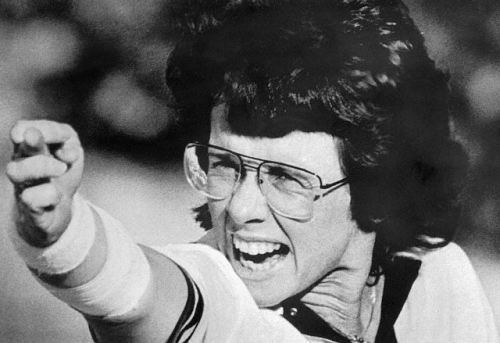 Billie Jean King Billie Jean King Gesturing with Her Middle Finger Death