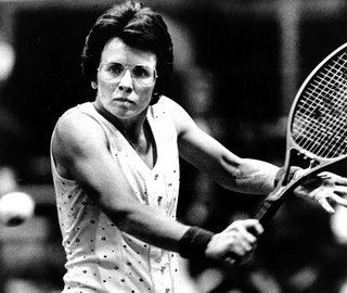 Billie Jean King Billie Jean King Tennis star least of her important roles Its