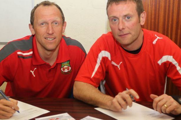 Billy Barr Andy Morrell and Billy Barr sign new Wrexham FC deals