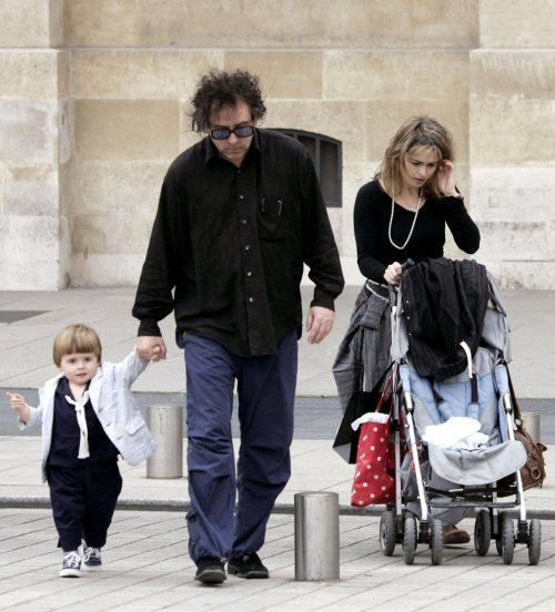 Billy Burton Tim Burton with son Billy Burton and Helena Y