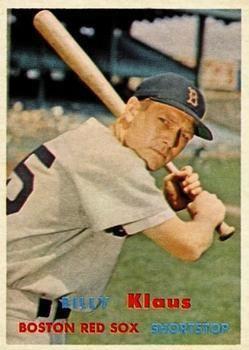 Billy Klaus 292 Billy Klaus Boston Red Sox 1957 Topps Baseball Cards