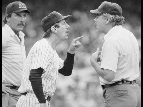 Billy Martin Billy Martins last ejection and interview YouTube