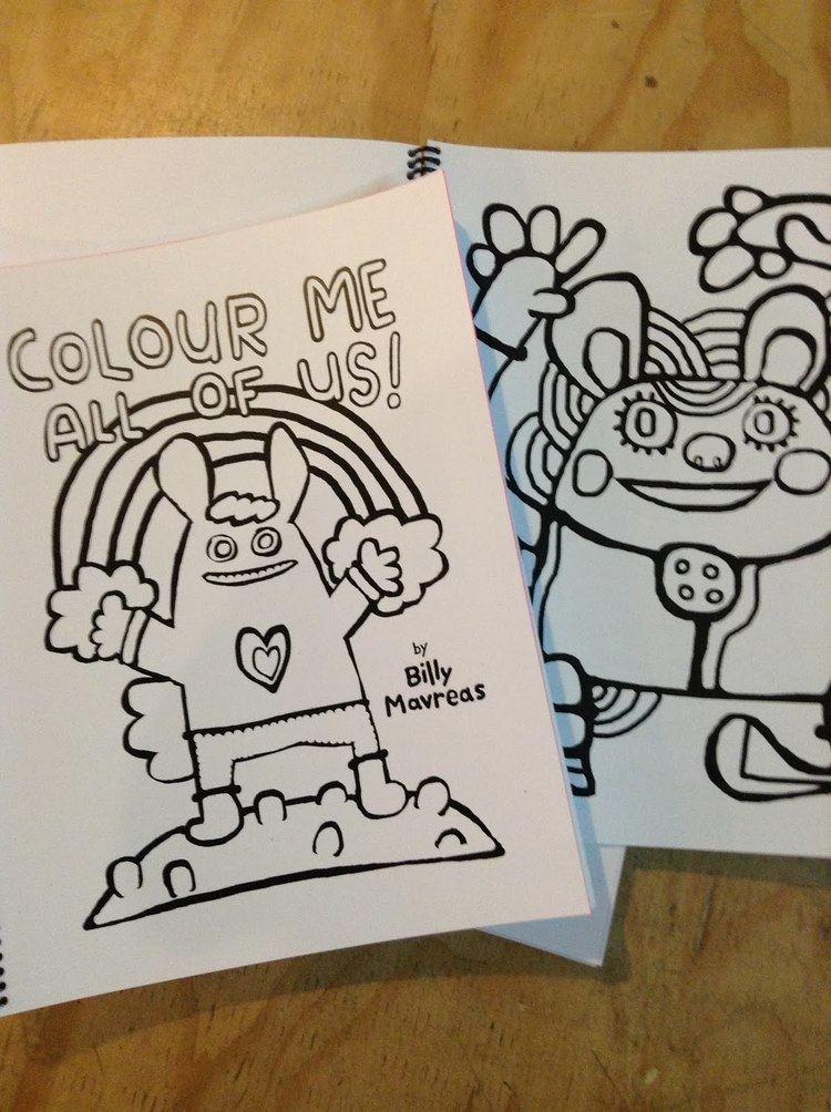 Billy Mavreas monastiraki NEW Billy Mavreas Colouring Book