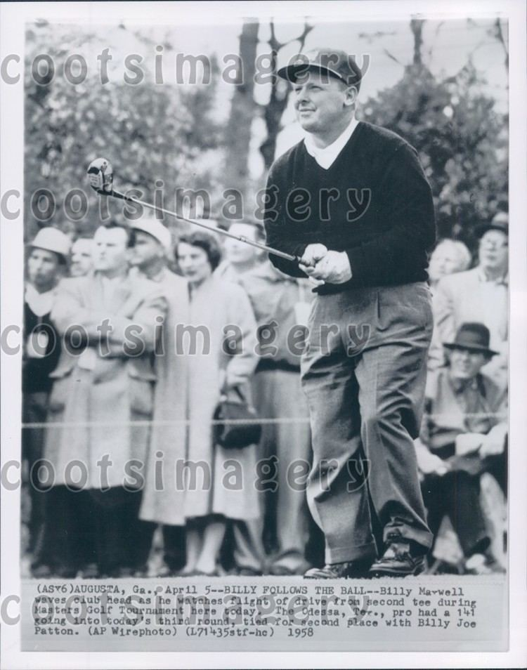 Billy Maxwell 1958 Golfer Billy Maxwell at The Masters in Augusta Press Photo eBay