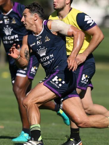 Billy Slater Melbourne Storms Billy Slater returns Kevin Walters on Queensland