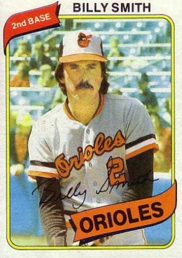 Billy Smith (second baseman) 1980 Topps Baseball 367 Billy Smith
