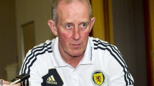 Billy Stark BBC Sport Scotland Under21 Billy Stark backs players