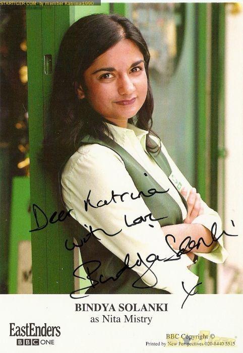 Bindya Solanki Bindya Solanki autograph collection entry at StarTiger