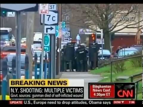 Binghamton shootings CNN Binghamton New York Shooting YouTube