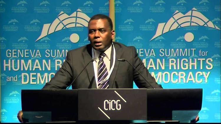 Biram Dah Abeid 2014 Geneva Summit Biram Dah Abeid Mauritanian Human
