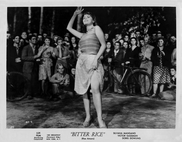 Bitter Rice movie scenes Bitter Rice Riso Amaro 1949