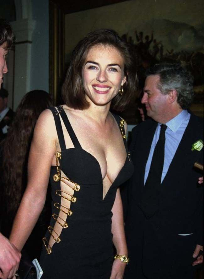 Black Versace Dress Of Elizabeth Hurley Alchetron The Free Social