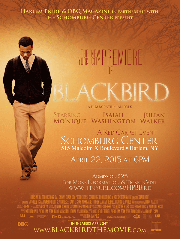 Blackbird (2014 film) MoNique Isaiah Washington Bob Johnson PatrikIan Polk to Attend