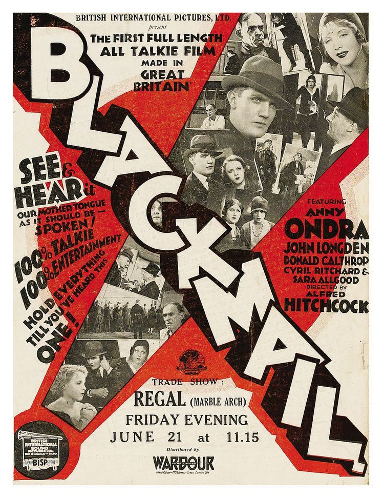 Blackmail (1929 film) Blackmail 1929 1001 A Film Odyssey