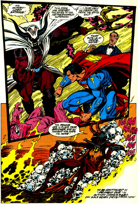 Blaze and Satanus Adventures of Superman 493 the BlazeSatanus War begins