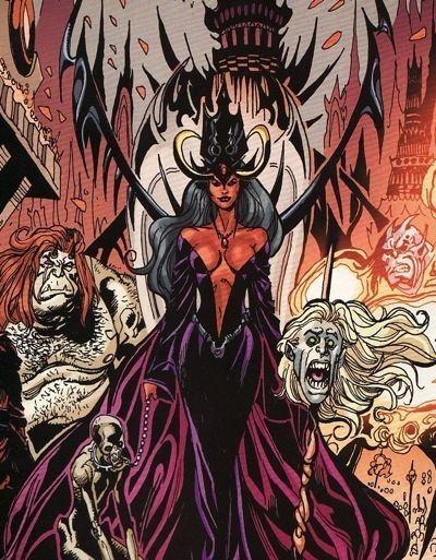 Blaze and Satanus Lady Blaze Character Comic Vine