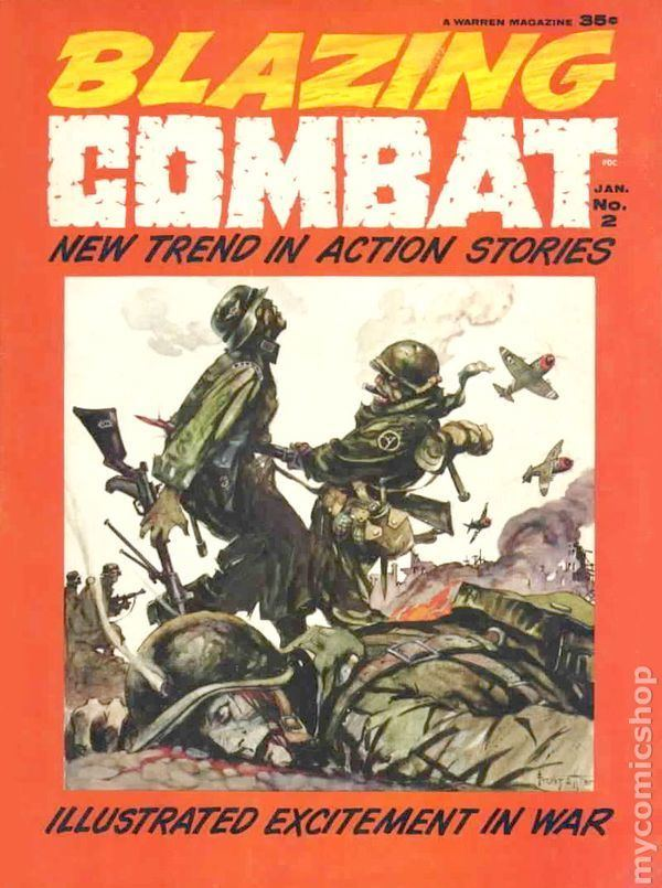Blazing Combat Blazing Combat 1965 Warren Magazine comic books