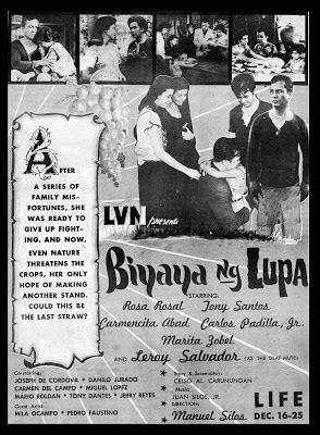 Blessings of the Land PELIKULA ATBP 1959 FAMAS AWARDS