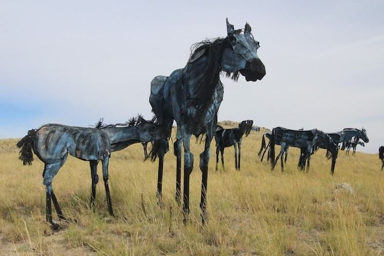 Bleu Horses Hillside full of 39Bleu Horses39 is sculptor39s gift to Montana Last