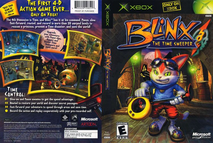 Blinx: The Time Sweeper Blinx The Time Sweeper Cover Download Microsoft Xbox Covers The