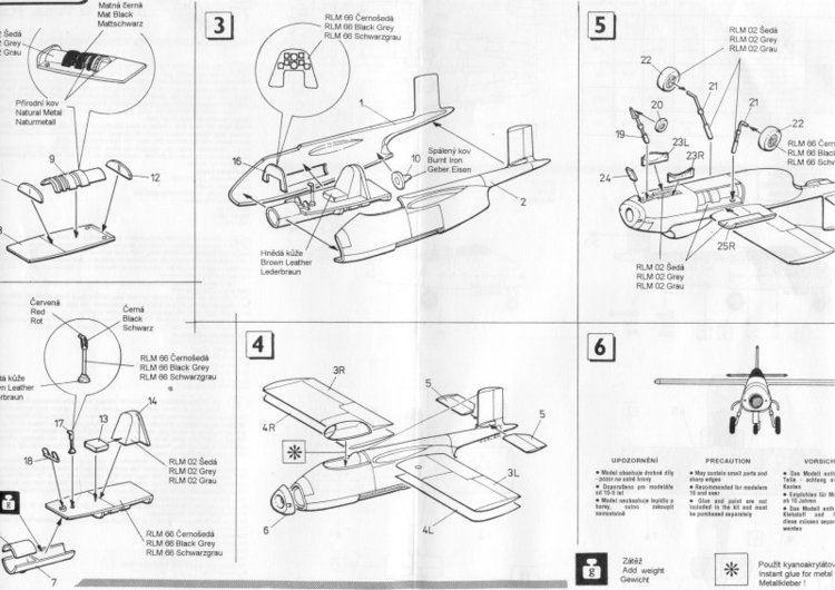 Blohm & Voss P.211 Luft 46 Models Blohm und Voss P 211