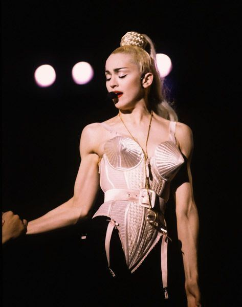 Blond Ambition World Tour Madonna in the famous Gaultier corsetinspired bodysuit Blond