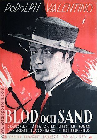 Blood and Sand (1922 film) Blood and Sand poster 1922 Rudolph Valentino original