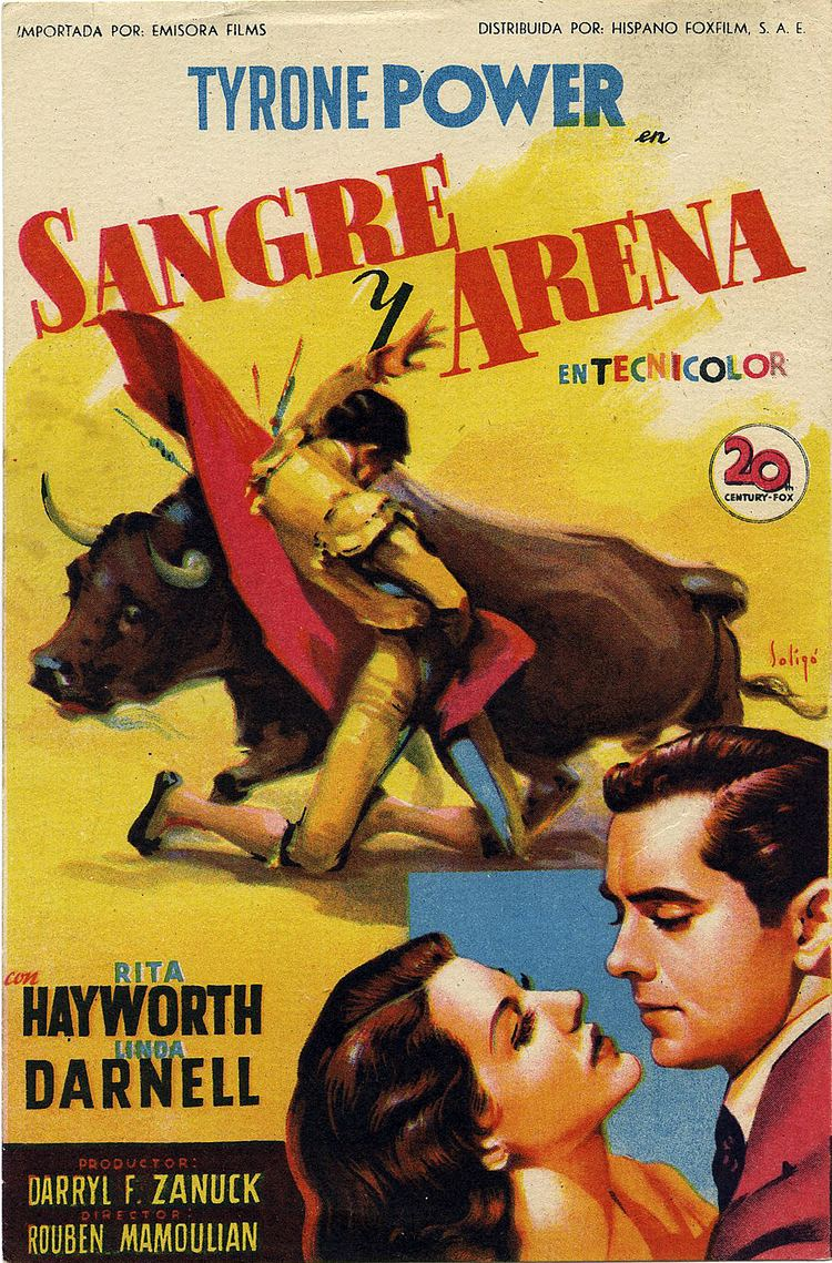 Blood and Sand (1941 film) Tyrone Power Annabella in BLOOD AND SAND 1941 Live OLD