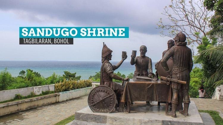 Blood compact Sandugo Shrine Blood Compact Monument in Tagbilaran City Bohol