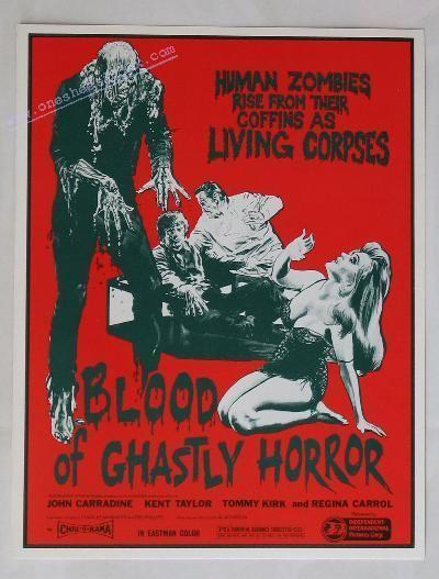 Blood of Ghastly Horror Blood of Ghastly Horror Pressbook Press Kit Movie Poster Stills