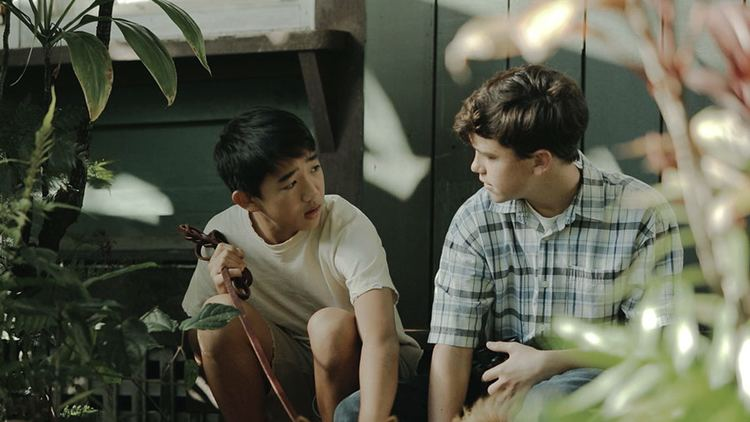 Blood on the Sun movie scenes Tomi and Billy talk story in a scene from Under the Blood Red Sun