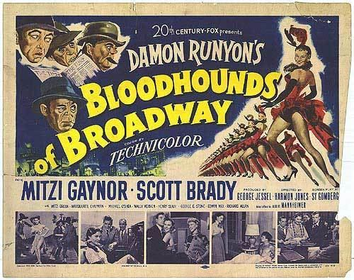 Bloodhounds of Broadway (1952 film) Bloodhounds of Broadway movie posters at movie poster warehouse
