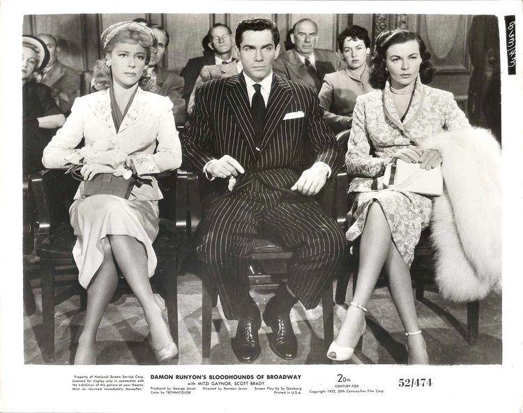 Bloodhounds of Broadway (1952 film) MITZI GREEN MARGUERITE CHAPMAN SCOTT BRADY in Bloodhounds of