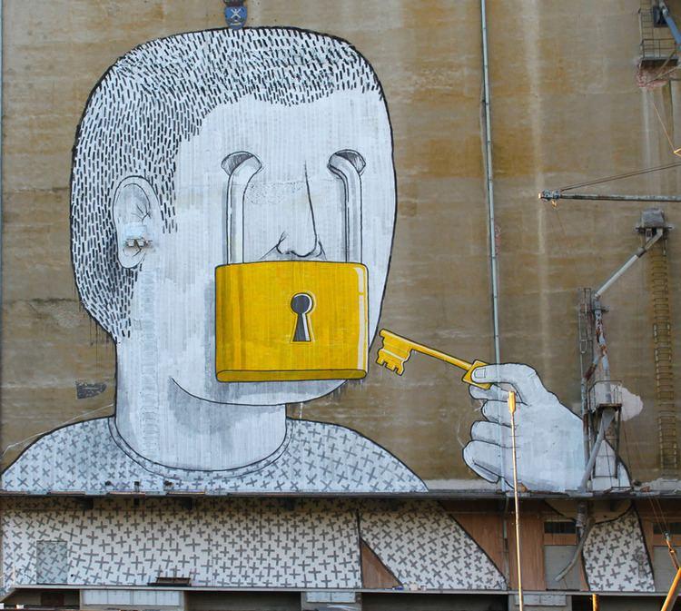 Blu (artist) Blu Hits Vienna unurth street art