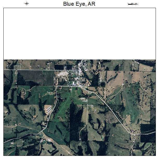 Blue Eye, Arkansas Aerial Photography Map of Blue Eye AR Arkansas