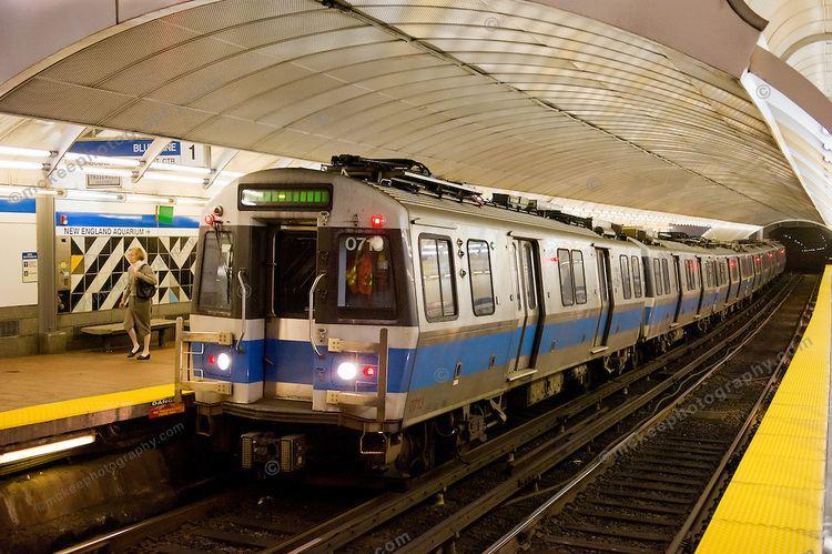 Blue Line (MBTA) MBTA39s Series 700 train cars built by Seimens at Aquarium Station