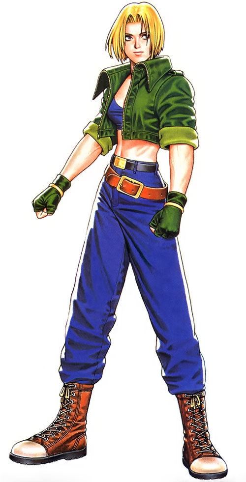 Blue Mary Blue Mary Ryan Fatal Fury King of Fighters Character profile