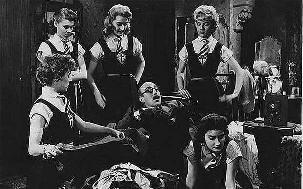 Blue Murder at St Trinians movie scenes  St Trinian s comedy films Leslie Gilliat
