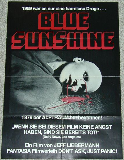 Blue Sunshine (film) Blue Sunshine Reviewed by Lisa Marie Bowman Horror Critic