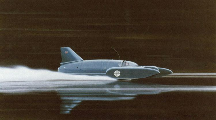 Bluebird K7 Gina CampbellBluebird K7 Donald Campbell crash on Coniston Water