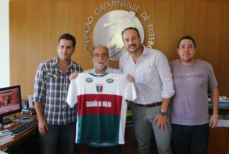 Blumenau Esporte Clube Presidente da FCF recebe a nova diretoria do Blumenau Esporte Clube