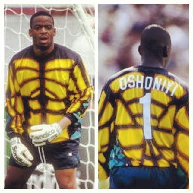 Bo Oshoniyi Crew96 original Bo Oshoniyi rocks the greatest keeper jersey in