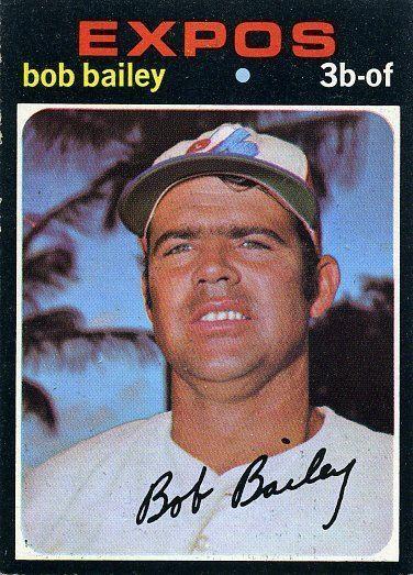 Bob Bailey (baseball) 157 Bob Bailey Montreal Expos Baseball Cards