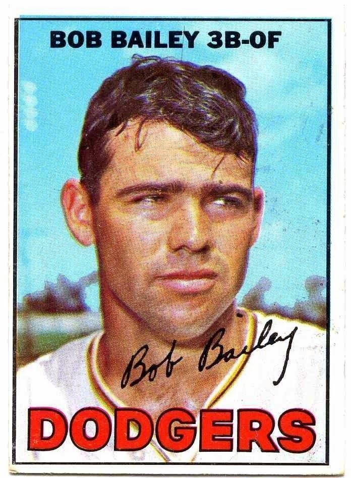 Bob Bailey (baseball) 1967 Topps Baseball Set 32 Bob Bailey of the LA Dodgers