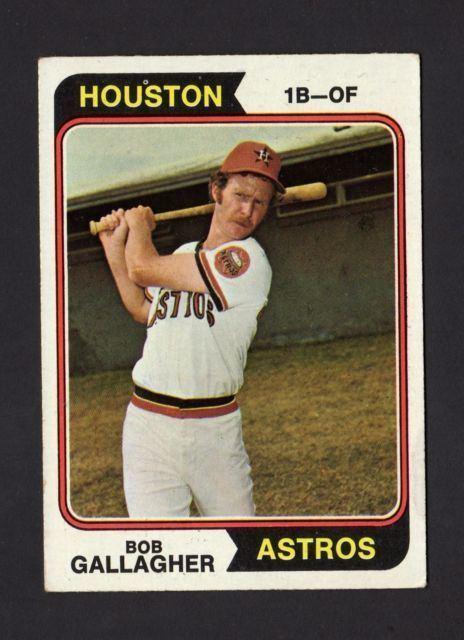 Bob Gallagher (baseball) 1974 Topps Bob Gallagher Houston Astros 21 Baseball Card eBay